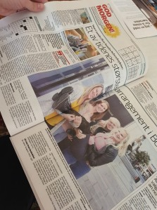 Lokalavisen Avisa Nordland lagde et to-siders oppslag om Helsesykepleierkongressen